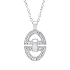 Horsebit Pendant with Cubic Zirconia