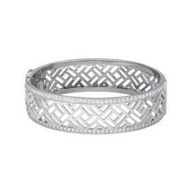 Bangle Bracelet with Cubic Zirconia
