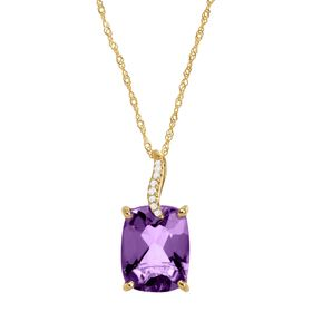 2 7/8 ct Amethyst Pendant with Diamonds