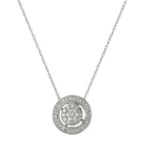 1/5 ct Diamond Circle Halo Pendant