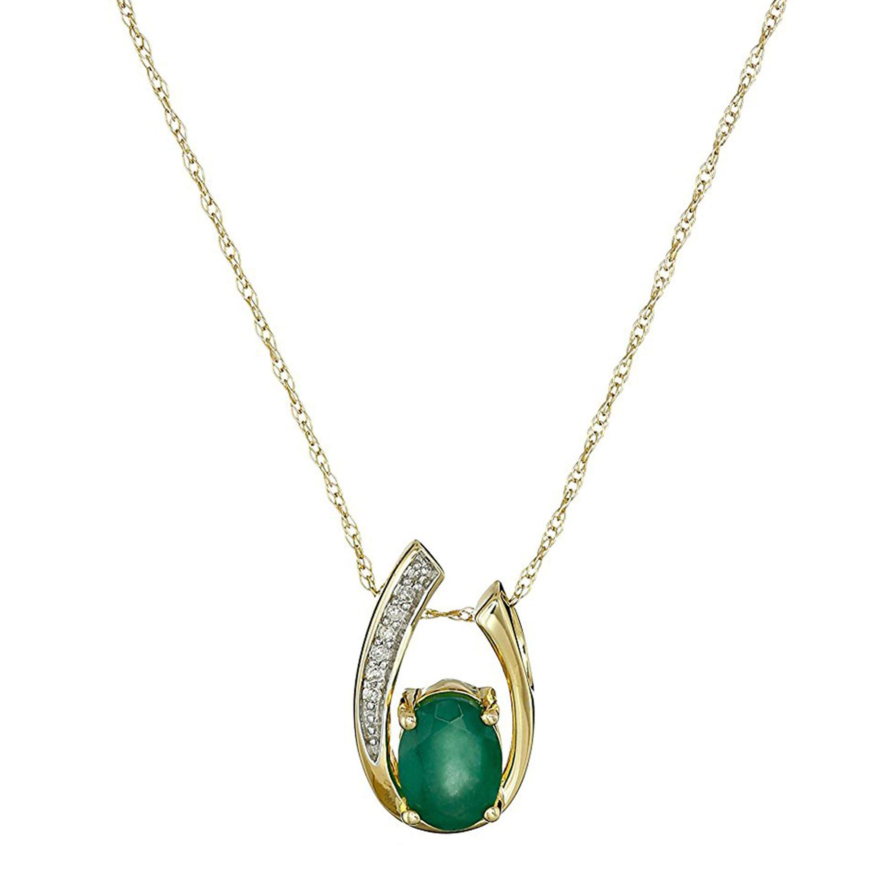 silver quality certified necklaces piece img premium natural products pendant emerald chain