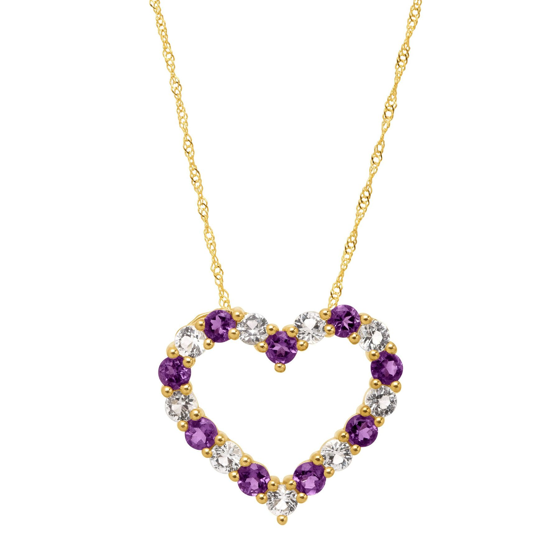 a diamonds with pendant set one on product enhanced heart prong open side