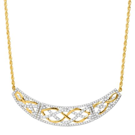 1 ct Diamond Garland Hinged Necklace