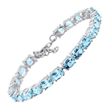 9 1 2 Ct Blue Topaz Tennis Bracelet