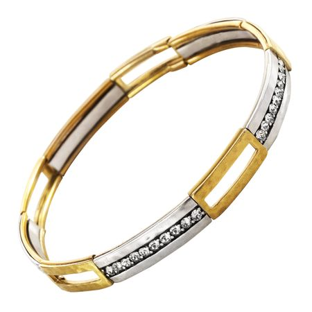 6341dfe3409fd Silpada 'Fusion' Stretch Bracelet with Swarovski Crystals in Brass and  Sterling Silver, 7.75