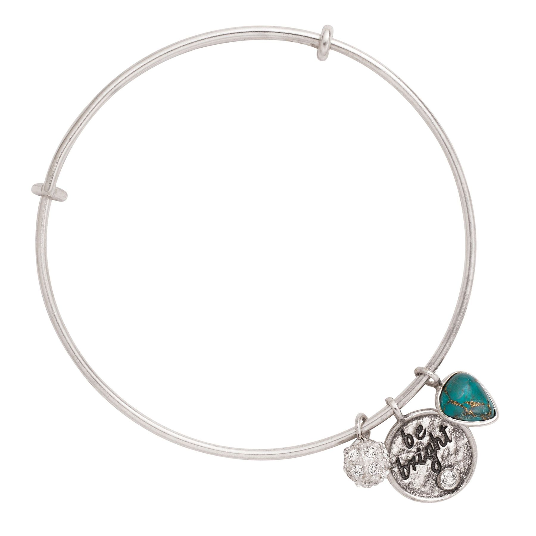 Silpada BeBright Sterling Silver Turquoise and Swarovski