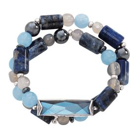 Blue Montana Stretch Bracelet