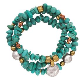 Blue's Hues Stretch Bracelets