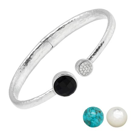 e0391a4ca09 Silpada 'On Your Toes' Natural Black Onyx, Compressed Turquoise ...