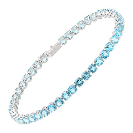 Swiss Blue Topaz Tennis Bracelet
