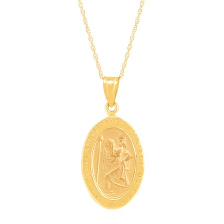 St. Christopher Medallion Pendant