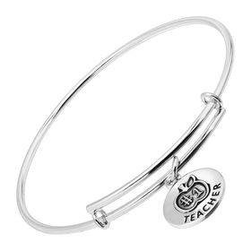 #1 Teacher Expandable Bangle Bracelet