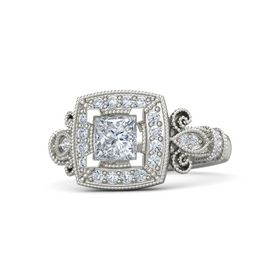 Princess Diamond 14K White Gold Ring with Diamond