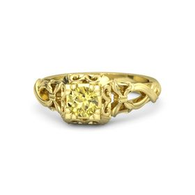Round Yellow Sapphire 18K Yellow Gold Ring