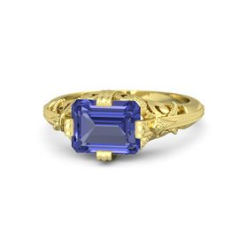 Emerald-Cut Tanzanite 14K Yellow Gold Ring