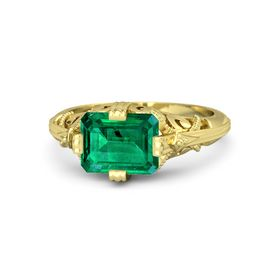 Emerald-Cut Emerald 18K Yellow Gold Ring