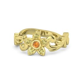 14K Yellow Gold Ring with Citrine & Yellow Sapphire