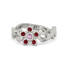 Platinum Ring with Pink Sapphire & Ruby