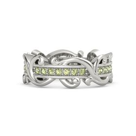 Palladium Ring with Peridot