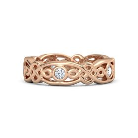 14K Rose Gold Ring with Diamond