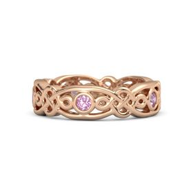 14K Rose Gold Ring with Pink Tourmaline