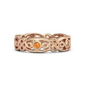 18K Rose Gold Ring with Citrine