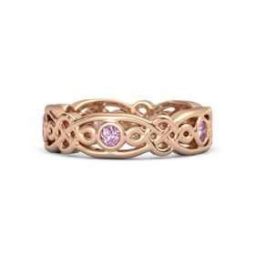 18K Rose Gold Ring with Pink Sapphire