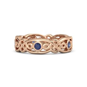 18K Rose Gold Ring with Sapphire
