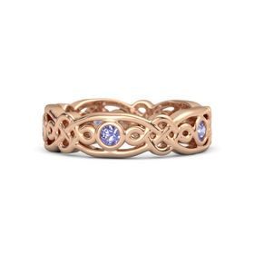 18K Rose Gold Ring with Iolite