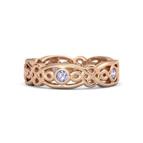 18K Rose Gold Ring with Tanzanite