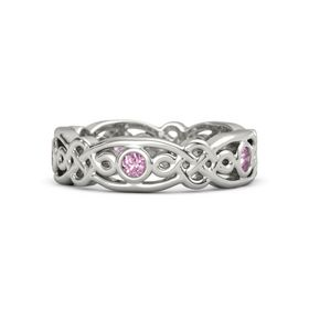 18K White Gold Ring with Pink Sapphire
