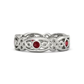 18K White Gold Ring with Ruby