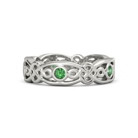 Platinum Ring with Emerald