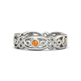 Platinum Ring with Citrine