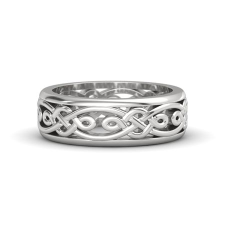 Men S Sterling Silver Ring Alhambra Band Gemvara