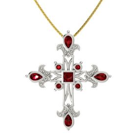 Princess Ruby Platinum Pendant with Ruby