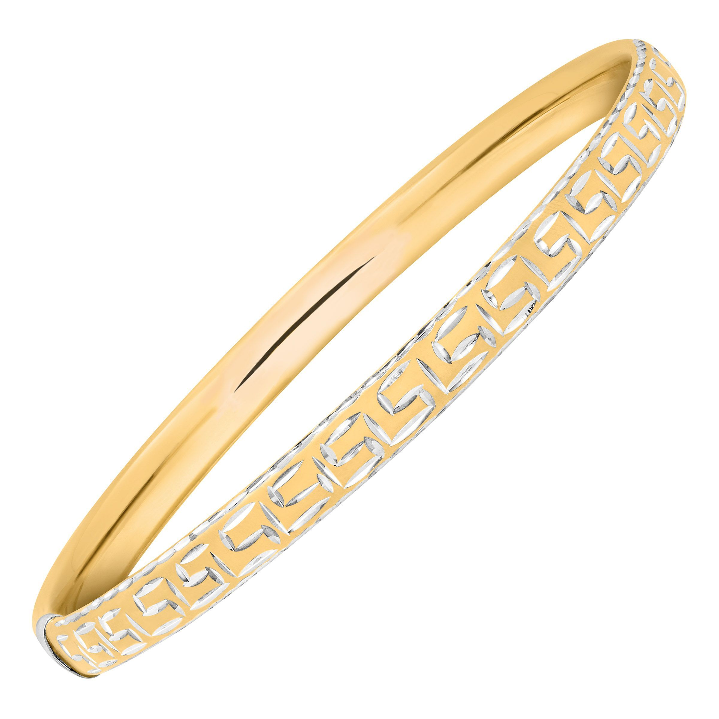 sterling yellow with bangle gold levin bracelets in and petite ed bangles signature medium silver bracelet