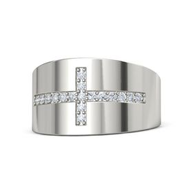 14K White Gold Ring with Diamond