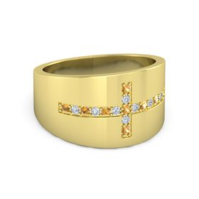 Graphic Cross Ring