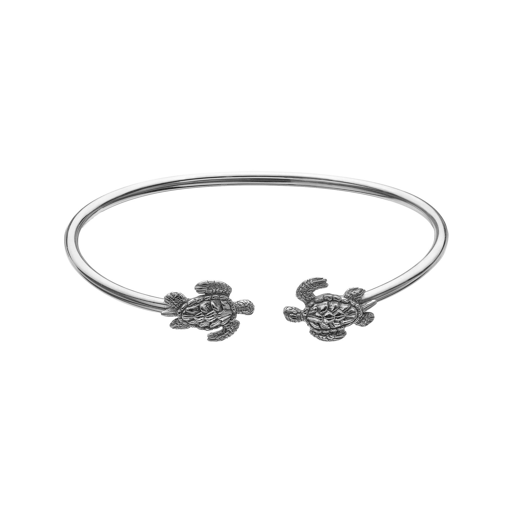 hawaiian solid sterling turtle hibiscus bangle silver bracelet