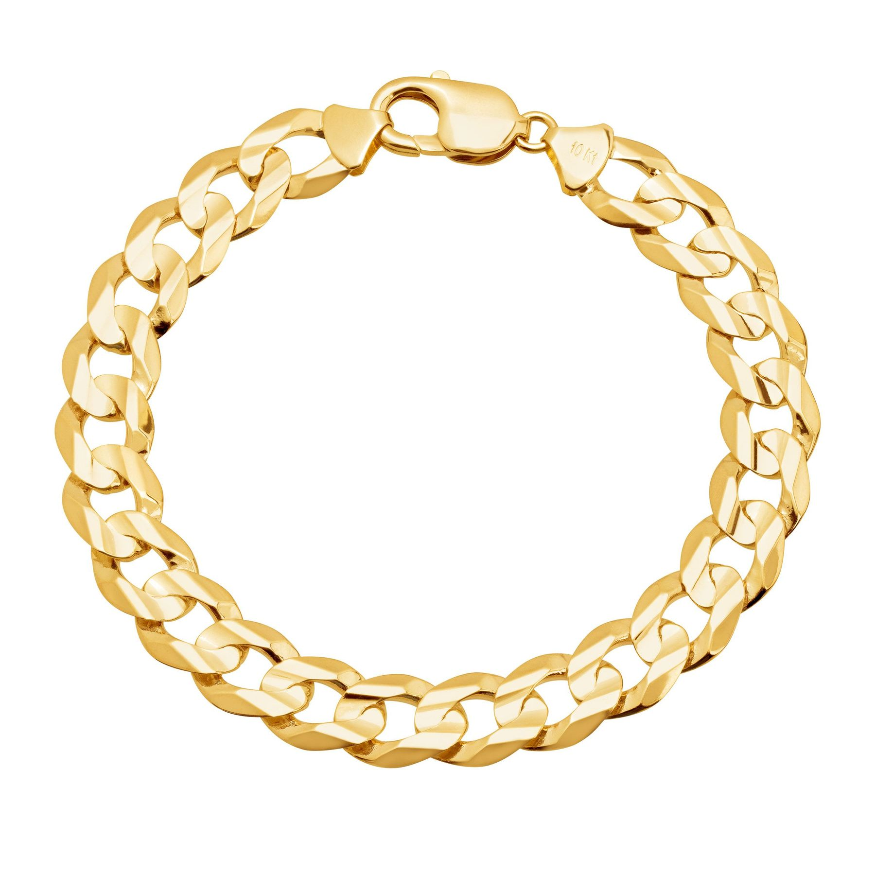 Men S Flat Curb Chain Bracelet