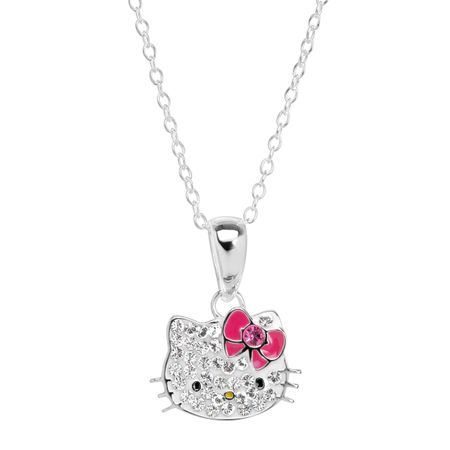 f97fa878d Hello Kitty Pendant with Crystals in Sterling Silver | Hello Kitty ...