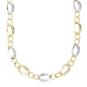 Double Oval Link Station Necklace