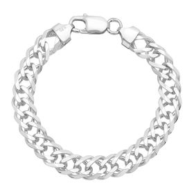 Double Curb Chain Bracelet