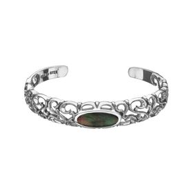 Black Mother-of-Pearl Bangle Bracelet