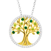 Deals on Finecraft Tree of Love Pendant with Cubic Zirconia
