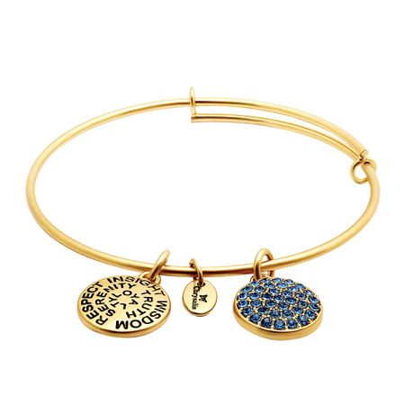 September Bangle Bracelet with Royal Blue Swarovski Crystal