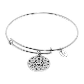 'Heart' Expandable Bangle Bracelet