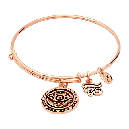 Expandable Eye of Horus Bangle, Pink