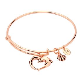 Expandable Aphrodite's Heart Bangle, Pink